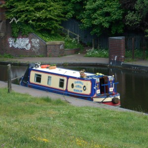 Moored at Dudley Tunnel